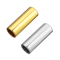 Stainless Steel Magnetic Clasp, Column, plated, hand polished, more colors for choice, 16x6x6mm, Hole:Approx 4mm, Sold By PC