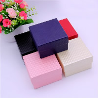 Cardboard Watch Box, with Sponge, Square, more colors for choice, 90x90x57mm, 24PCs/Bag, Sold By Bag