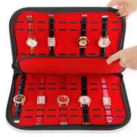 PU Watch Box, with Velveteen, Rectangle, 280x395mm, Sold By PC