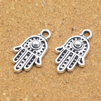 Zinc Alloy Hamsa Pendants, antique silver color plated, 12x20x3mm, Hole:Approx 1.5mm, Sold By PC