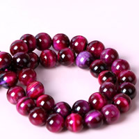Tiger Eye Beads, Round, different size for choice, red, Hole:Approx 1mm, Length:Approx 15 Inch, Sold By Strand