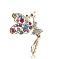 Mobile Phone DIY Decoration, Zinc Alloy, Fairy, gold color plated, with rhinestone, lead & cadmium free, 50x38mm, Sold By PC