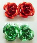 Aluminum Flower Beads, painted, more colors for choice, 930PCs/Bag, Sold By Bag
