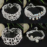 Claw Chain Rhinestone Bracelets