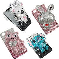 Rhinestone Cell Phone Cover For iPhone 4GS