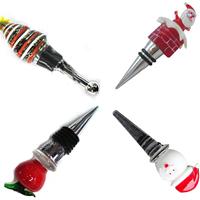 Christmas Lampwork Bottle Stopper