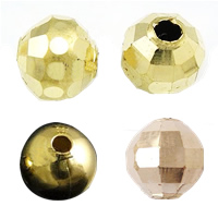 Faceted Brass Beads