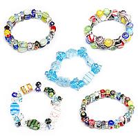 Crystal Millefiori Glass Bracelets