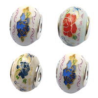 Sterling Silver Core European Porcelain Beads