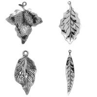 Sterling Silver Leaf Pendants