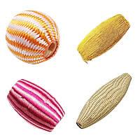 Silk Woven Beads