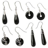 Sterling Silver Agate Drop earring