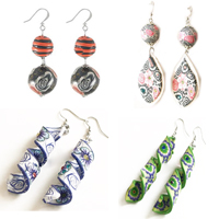 Polymer Clay Dangle Earring