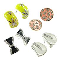 Enamel Czechic Rhinestone Stud Earring