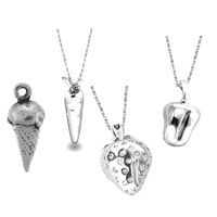 Sterling Silver Food Pendants