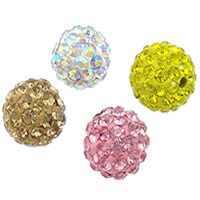 Half Drilled Rhinestone Beads