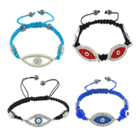 Evil Eye Connector Shamballa Bracelets