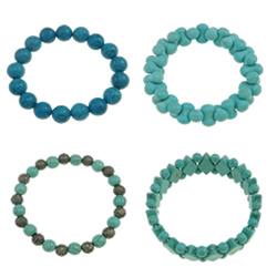 Synthetic Turquoise Bracelet