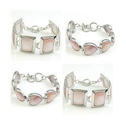 Natural Pink Shell Bracelet