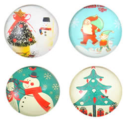 Christmas Glass Cabochon