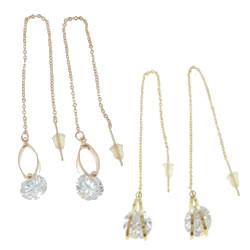 Brass Thread Through Earrings