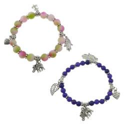 Dyed Marble Bead Bracelet