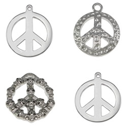 Stainless Steel Peace Logo Pendant