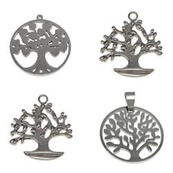 Stainless Steel Life Tree Pendant