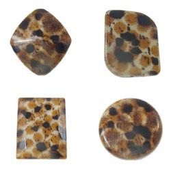 Leopard Acrylic Beads