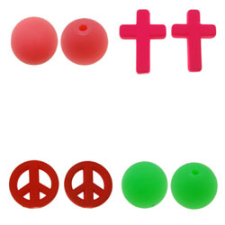 Rubberized Acrylic Beads