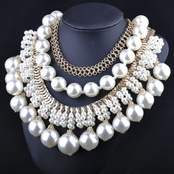 Plastic Pearl Necklace
