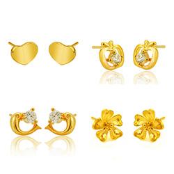 Brass Stud Earring