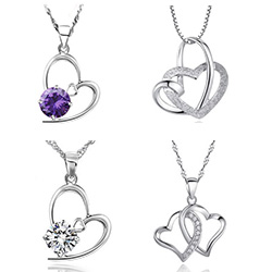 Sterling Silver Heart Pendants