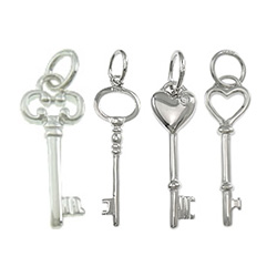 Sterling Silver Key Pendants