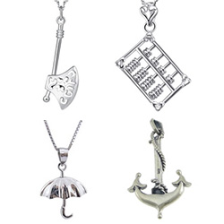 Sterling Silver Tool Pendants