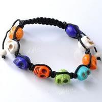 Turquoise Woven Ball Bracelets