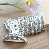 Half Round Bridge Rhinestone Spacer