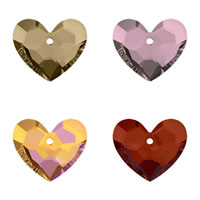 CRYSTALLIZED™ Elements #6264 Crystal Truly in Love Heart Pendants