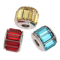Crystal Zinc Alloy European Beads