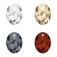 CRYSTALLIZED™ Elements #6911 Crystal Kaputt Oval Pendants