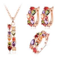 Brass Cubic Zirconia Jewelry Sets