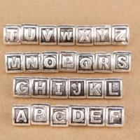 Thailand Sterling Silver European Alphabet Beads
