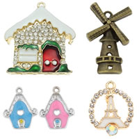 Zinc Alloy Building Pendants