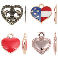 Zinc Alloy Heart Pendants