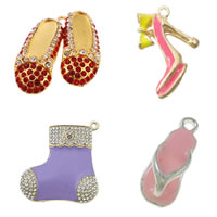 Zinc Alloy Shoes Pendants