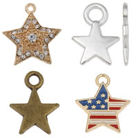 Zinc Alloy Star Pendants