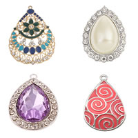 Zinc Alloy Teardrop Pendants