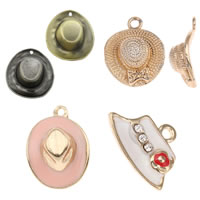 Zinc Alloy Hat Pendants