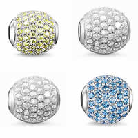 Cubic Zirconia Sterling Silver Beads
