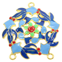Sterling Silver Cloisonne Connector